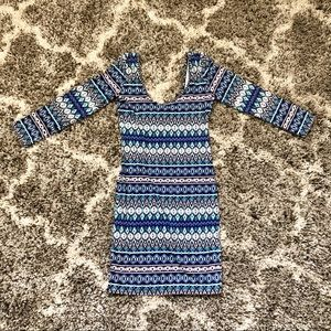 Scoop Neck Aztec Print Dress from Forever 21